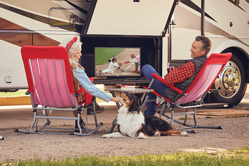 Watch DISH TV Outdoors in the RV- Wills Point, TX - Young Ideas - DISH Authorized Retailer